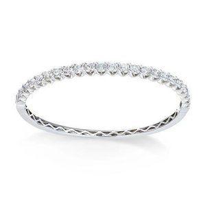 5 carats prong set Round diamond tennis bracelet